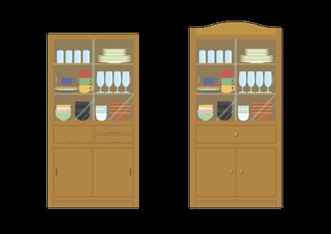 大洗町の不用な食器棚の家具処分