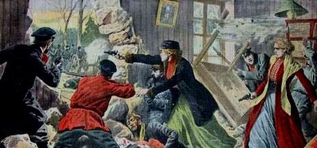 Russiske socialrevolutionære i kamp mod zarens politi