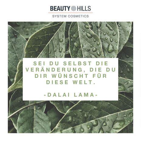 Beauty Hills, Kosmetik, Dalai Lama, Veränderung, Umweltschutz, Plastik, Nachhaltigkeit, Zitat