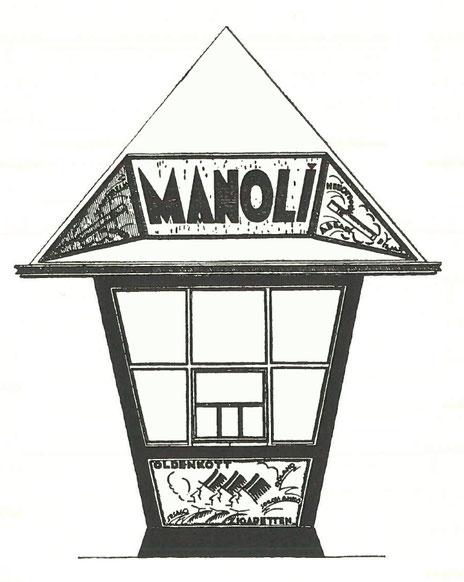 """Bruno Tauts expressionistischer Entwurf für den """"kleinen"""" Kiosk, von dem ab 1921 drei Stück in Magdeburg standen"""