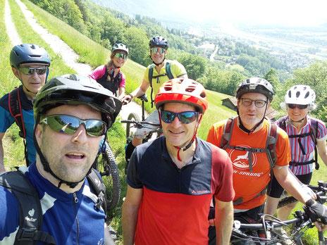 Letztes Jahr war es etwas kühl: David, Frank, Matthias und Petra am Sonnenberg