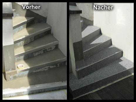 Steinteppich Verlegung bei Böden, Terrasse, Balkon, Wohnbereich oder ...