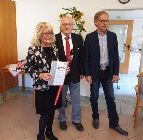 Christa Lange, Siegfried Raabe, Ullrich Klinke (von links)