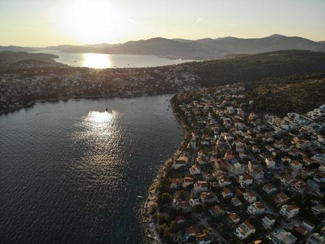 Bucht von Mavarcica from birds eye view