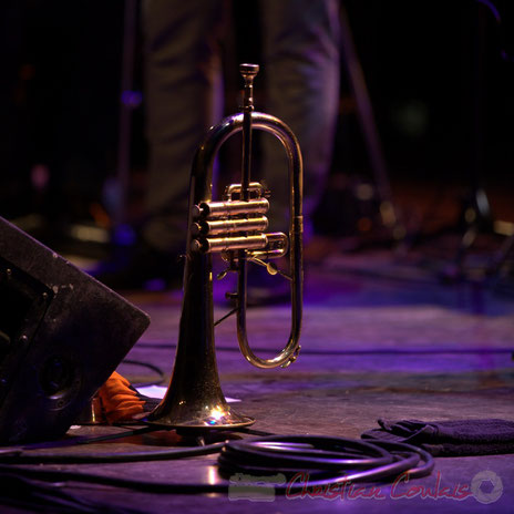 Festival JAZZ360 2013, bugle de Guillaume Gardey de Soos; les Métropolitains. Cénac, samedi 8 juin 2013