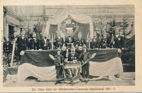Der kleine Rath der Münsterschen-Carnevals-Gesellschaft 1901 1902
