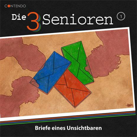 CD-Cover Die 3 Senioren - Briefe eines Unsichtbaren