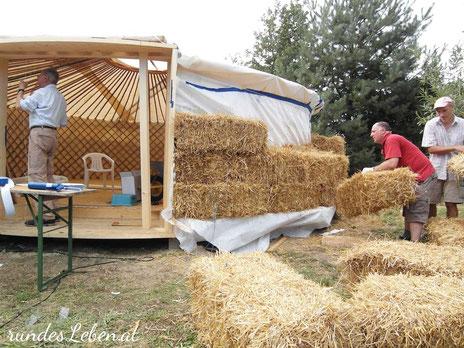 Strohballenbau Jurte kaufen & bauen strawbale
