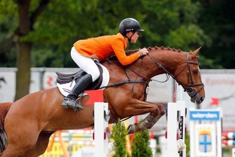Rowen van de Mheen uit Hoevelaken, hier tijdens het Dutch Youngster Festival 2014, won vorig jaar de EY Cup. Foto www.fototrailer.nl