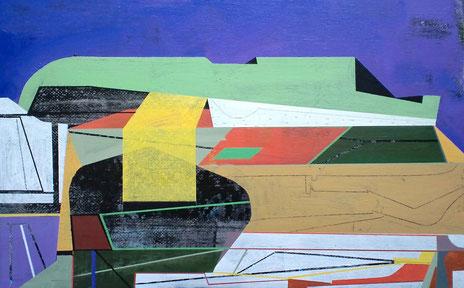 James Wallace Harris: Avalon, 2014, Acryl auf Leinwand, 33 x 53 cm, Galerie SEHR Koblenz