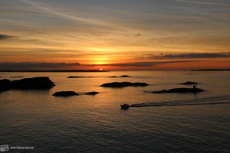 Traumhafter Sonnenuntergang in Haugesund