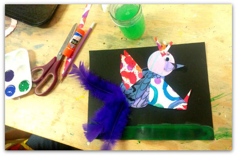 A Bird Collage form by School Aged Artist