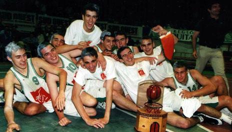 N°-9 à gauche - Champion d'Aquitaine Cadets à Pomarez avec l'USM (2000)