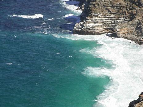 南アフリカ 喜望峰から見た海岸
