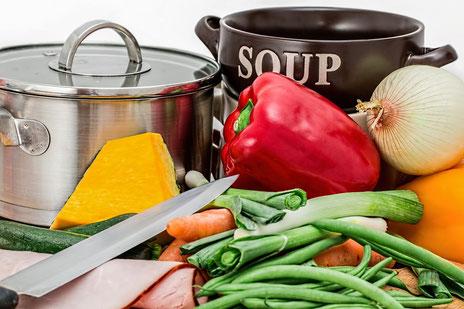 Für's Kochen braucht man allerlei Zutaten. (Bildquelle: pixabay.com)