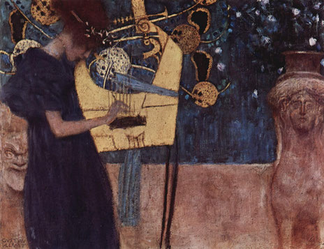 Klimt, Musique, 1895. Source : Wikipedia, Domaine public.