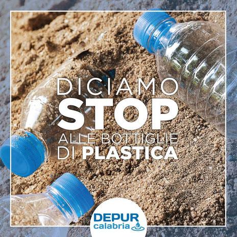 basta bottiglie di plastica