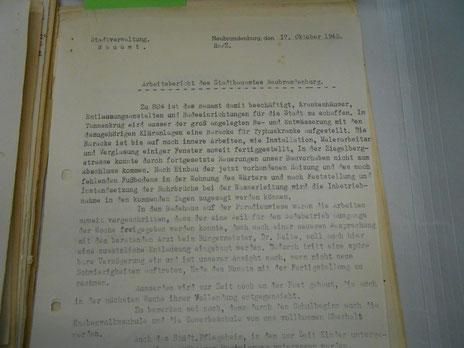 Rechenschaftsbericht des Stadtbauamtes vom 17. Oktober 1945. (Zum Vergrößern anklicken!)
