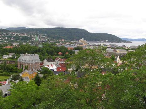 Trondheim muss man einfach gesehen haben - hier von der Festung Kristiansten aus.