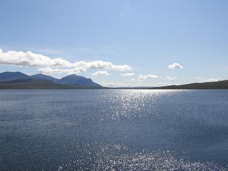 Sylsjøen bei Sonnenschein - östlich von hier entspringt die Nea.