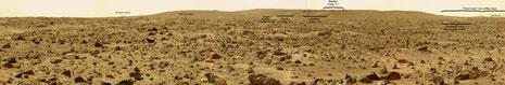 """Big Crater"" Landschaft... siehe Landungsumfeld oben (NASA, Dr. Timothy Parker, JPL)"