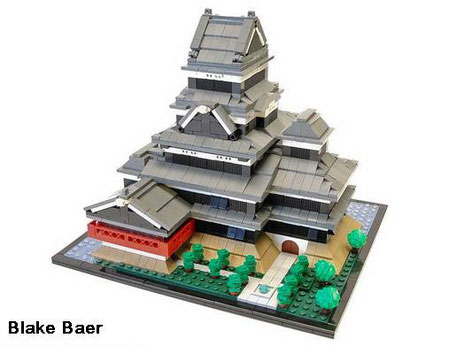 Le château de Matsumoto en... ©LEGO ! - Cliquer pour agrandir