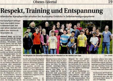 Artikel der Frankenberger Zeitung, erschienen am 04.07.2013