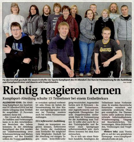 Frankenberger Allgemeine 04.12.2013