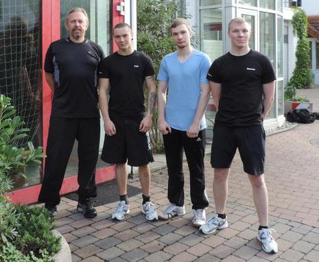 Von links: Wolfgang Kuhnhenn, Fabian Stenger, Sebastian Becker, Roman Dragin
