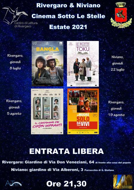 Rivergaro &Niviano - cinema sotto le stelle estate 2021
