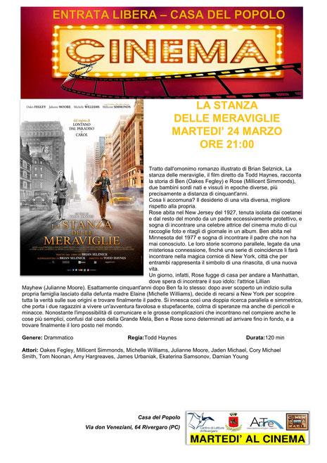LA STANZA DELLE MERAVIGLIE   24 marzo ore 21:00   Rivergaro (PC) Casa del Popolo