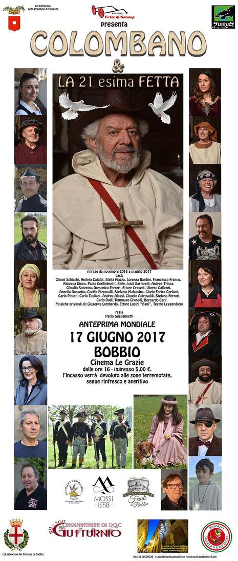 Fette di Salame - Colombano - il 17 giugno 2017 in Anteprima Nazionale al Cinema Le Grazie di Bobbio