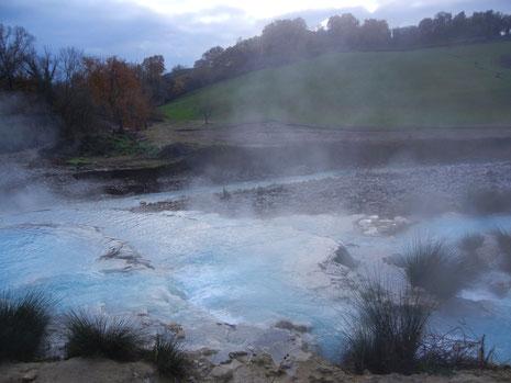 サトゥルニア温泉の露天風呂
