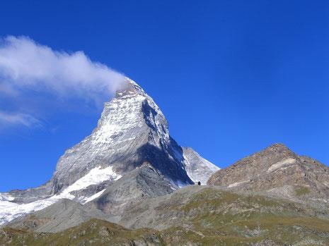 Das Matterhorn vom Hotel Schwarzsee