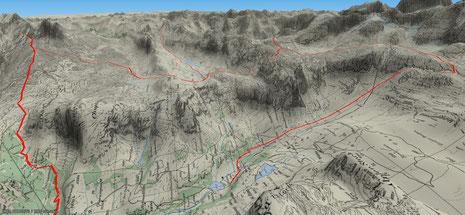 Bisistaler Haute Route im Überblick - auf das Bild klicken