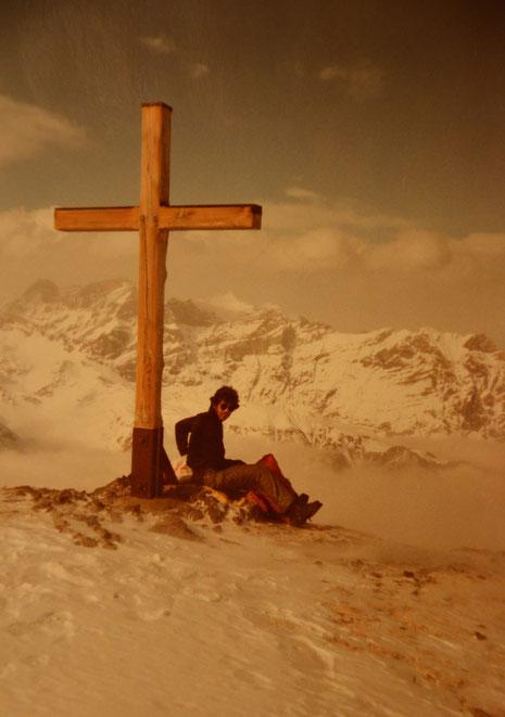 Mit Hans auf dem Bälmeten im Februar 1984