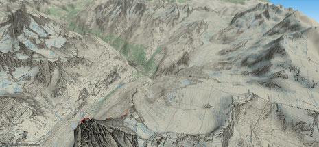 Matterhorn mit Blick nach Zermatt