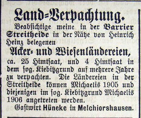 Syker Zeitung 01.08.1905