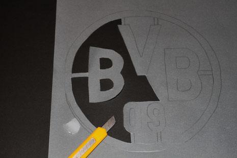 BVB-Laterne Borussia Dortmund 2 Logo ausschneiden