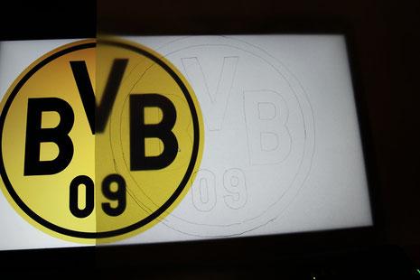 BVB Laterne Borussia Dortmund 2 Logo abpausen