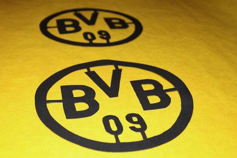 BVB-Laterne Borussia Dortmund 4 Schablone auf Transparentpapier