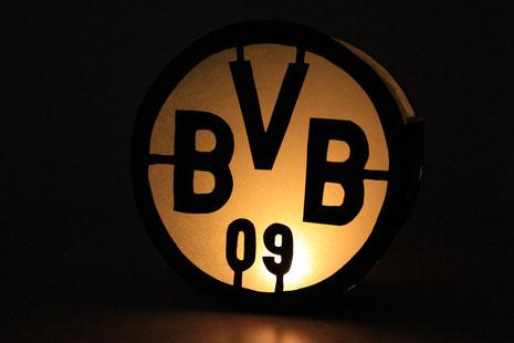 BVB-Laterne als Tischdeko