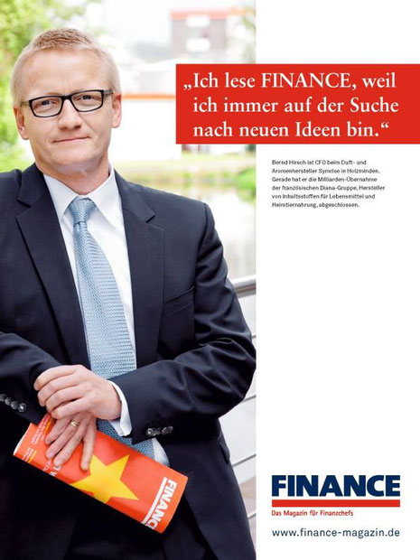 AD Campaign for Finance Magazin, CFO Symrise, Bernd Hirsch by Klaus Lange