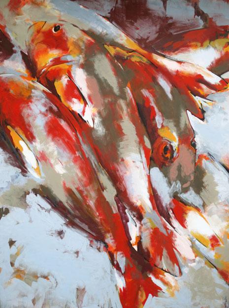 Fische II - Acryl auf Leinwand - 120x160 cm - 2011