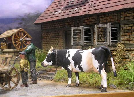 Eine Kuh ist ein Schatz in der Nachkriegszeit.