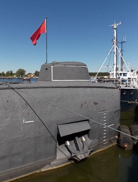 Bugsektion mit Anker und vordere Torpedoklappen.