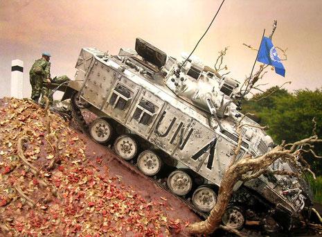 Hier kommt der über 20 Tonnen schwere Schützenpanzer nicht mehr selber heraus.