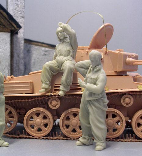 Der kleine Panzer hatte eine Besatzung von drei Mann.