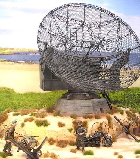 Ablösung und Motorradsoldat bieten nun einen guten Größenvergleich für das Radargerät.