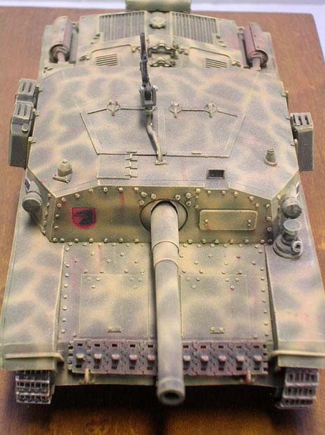Die Frontpanzerung betrug bis zu 75mm, was in der Regel für die Geschosse der Allierten ausreichte.